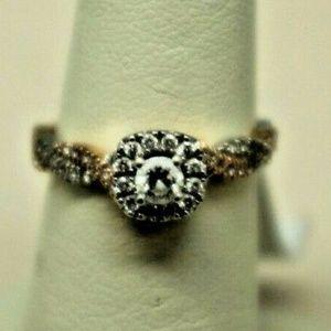 Neli Lane 14KT Ladies 2-Tone Gold Diamond Ring